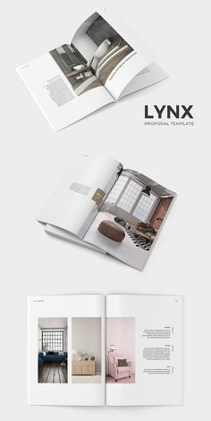 This product is a part of - Lynx Complete Pack: - Brochure Bundle: Lynx Proposal Template is an elegant and stylish template for InDesign. Layout Design, Interior Design Layout, Interior Design Presentation, Web Design, Logo Design, Print Layout, Design Ideas, Brochure Cover, Brochure Layout