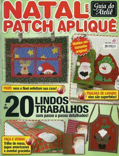 patch Apliquê natal - Jozinha Patch - Álbumes web de Picasa Christmas Books, Christmas Stockings, Christmas Crafts, Applique Patterns, Quilt Patterns, How To Make Purses, Book Quilt, Album, Pattern Books