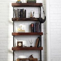 Industrial shelf in my living room, but a low style for the tv.