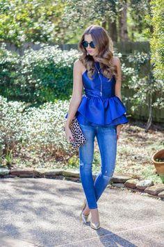 Metallic Blue Double Peplum Top  # #For The Love Of Fancy #Winter Trends #It-Girl #Best Of Winter Apparel #Top Double Peplum #Double Peplum Tops #Double Peplum Top Metallic Blue #Double Peplum Top Clothing #Double Peplum Top 2015 #Double Peplum Top Apparel #Double Peplum Top How To Wear