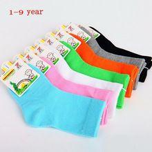 10 pcs = 5 pairs 2016 primavera e outono de algodão crianças meias meninas meias meninos meias crianças meias 1 - 9 ano(China (Mainland))