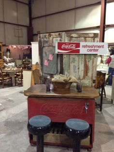 Upcycled  Coca Cola cooler - I would love to have this