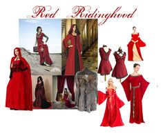 """""""HALLOWEEN: Red Ridinghood"""" by misshollowpointslug ❤ liked on Polyvore featuring women's clothing, women, female, woman, misses and juniors"""