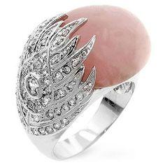 Oversized Rose Quartz Cocktail Ring
