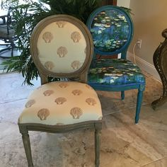 Beautiful shell chair. This finish is being taught in a wood painting class held in Sarasota, Florida that is especially designed for creative upholsterers. 1 seat remains open February 26th & 27th. Melodie Burrus