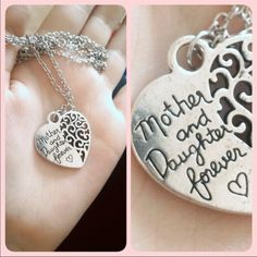 "Mother & Daughter Forever Cute silver toned zinc alloy necklace. Chain is about 28"" plus 2"" extender. New in package. Jewelry Necklaces"