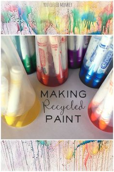 Making Recycled Paint - find our how we made these beautiful water colours at home using recycled materials   you clever monkey