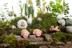 Make yourself these cute Easter egg animals as cute #decoration for your #home. All these cute animals are out of blown out egg shells and make an adorable Easter table #decoration.