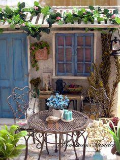 Outdoor Life, Outdoor Decor, Chicano, Dollhouse Miniatures, Gazebo, Scale, Shabby Chic, Room Decor, Miniature Gardens