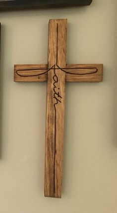 Wood Cross Religious Decor Baptism Gift First Communion Wooden Crosses, Crosses Decor, Wall Crosses, Wooden Cross Crafts, Country Wood Crafts, Painted Crosses, Decorative Crosses, Cross Wall Art, Cross Wall Decor