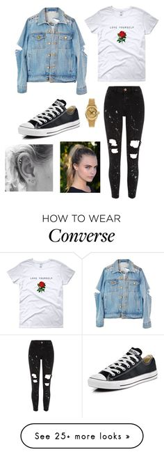 """Love Yourself ❤️"" by bokye-354 on Polyvore featuring River Island, Converse and Rolex"