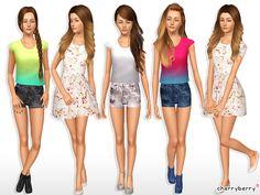 Spring fashion set 03 YA by CherryBerrySim - Sims 3 Downloads CC Caboodle