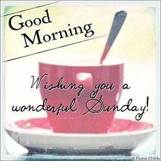 GOOD MORNING!  Wishing you a wonderful Sunday!  www.tinablackmon.com  Facebook/tinablackmonrealtor