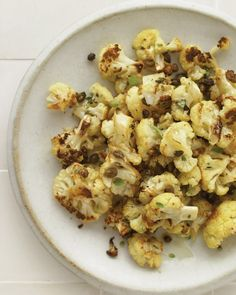 Roasted Cauliflower: Roasted cauliflower gets the tangy addition of capers, red-wine vinegar, and mustard. Serve this flavorful side dish with any simple roast meat or fish.
