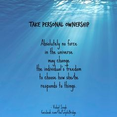 Living A Life Of Personal Ownership