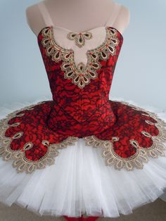 Red and white tutu. DQ designs.