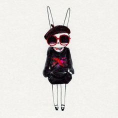 Fifi Lapin, the world's most stylish bunny <3