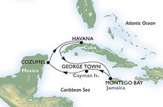 Cruceros cuba, antillas y caribe - Cuba, Jamaica, Gran Caimán, México