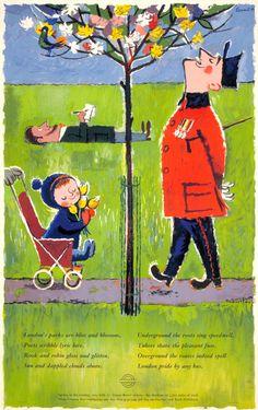 commonorgarden: London Transport poster1960,...