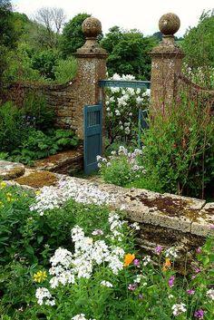 Garden at Snowshill Manor, Gloucestershire, England