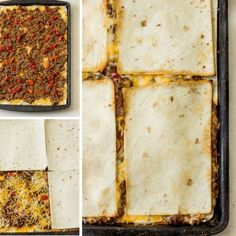 Quesadillas in the oven baked (Sheet Pan Quesadilla recipe) Baked Quesadilla, Beef Quesadillas, Quesadilla Recipes, Oven Recipes, Cooking Recipes, Cooking Ideas, Chicken Recipes, Food Ideas, Beef Chili Recipe