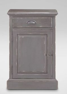 Sayville Single Door Cabinet with triple moldings that make up its cornice design, rustic interior beadboard back panels, soft-close drawers, and a ratchet shelving support system that allows you to adjust the shelves to multiple levels. Available in an array of beautiful finishes, including select two-tone combinations, that are hand-applied and then hand-rubbed at the edges to give each piece the look of an heirloom-quality antique.