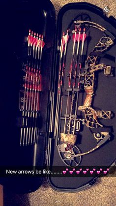 Nothing like new PINK Easton arrows for my Matthews Chill SDX
