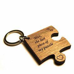 Personalised 'Missing Piece' Jigsaw Keyring