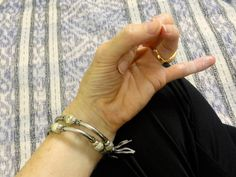 """""""Mudra for Worry"""" Receive Free Weekly Guided Meditations + Tea Tips at http://www.SipandOm.com."""