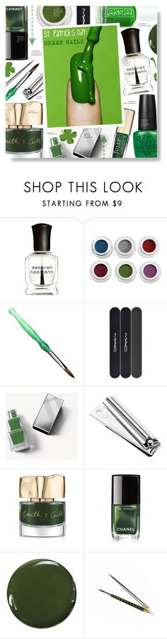 """""""St. Patrick's Day: Green Nails"""" by chocolate-addicted-angel ❤ liked on Polyvore featuring beauty, Deborah Lippmann, OPI, MAC Cosmetics, Burberry, Smith & Cult, Chanel, Zoya, GREEN and beautyset"""