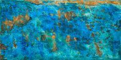 Copper Art Design ~ Copper Wall Art ~ Copper Art want a counter of mixed colors on bean counter breakfast bar