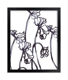 """""""Ink Cyclamen"""" - Art Print by Sonal Nathwani in beautiful frame options and a variety of sizes."""