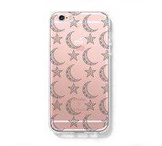 Star Moon iPhone 6 Case Clear Hard iPhone 6s Plus Case, Galaxy S6 Edge Case C029