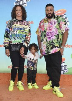 Nicole Tuck, Asahd Tuck Khaled, and DJ Khaled attend Nickelodeon's 2019 Kids' Choice Awards at Galen Center on March 2019 in Los Angeles, California. Kids Choice Award, Choice Awards, Aladdin Movie, Lilly Singh, Skai Jackson, Joey King, Big Show, Aladdin Film