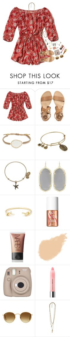 """""""allergies rn"""" by ellaswiftie13 ❤ liked on Polyvore featuring Hollister Co., Sol Sana, Tai, Alex and Ani, Kendra Scott, Sole Society, Benefit, NARS Cosmetics, Clinique and Ray-Ban"""