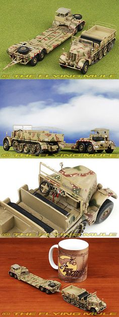 Tanks and Military Vehicles 171138: 1:72 Sd.Kfz.9 Half-Track German Army W Trailer -> BUY IT NOW ONLY: $39.95 on eBay!