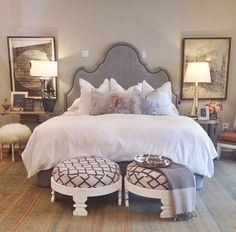 Dream bedroom, bedroom decor glam, home bedroom, glam master bedroom, bedro Dream Bedroom, Home Bedroom, Master Bedroom, Bedroom Ideas, Bedroom Decor Glam, Bedroom Signs, Bedroom Inspiration, Bedroom Furniture, House Rooms