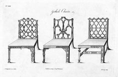 Thomas Chippendale Designed Gothic Styled Chairs As Well
