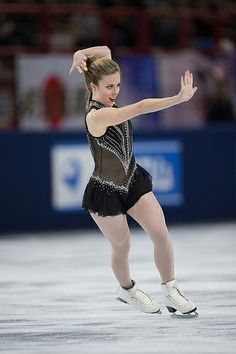 Ashley Wagner, USA. I am BEYOND THRILLED that she's representing the USA in Sochi. I was rooting for her all year.