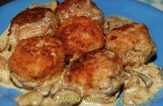 1/2 kg mięsa mielonego, mieszanego ( wołowo-wieprzowe ) ok. 300-400 g ziemniak Meat, Chicken, Ethnic Recipes, Food, Essen, Meals, Yemek, Eten, Cubs