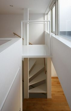 Stay Residence is a three-story building located in a distinctively dense area of Tokyo, Japan. Designed by StudioLOOP, the house is squeezed between two Narrow House, Stair Steps, Micro House, Construction, Tiny Spaces, Story House, Stairways, Interior Architecture, Building A House
