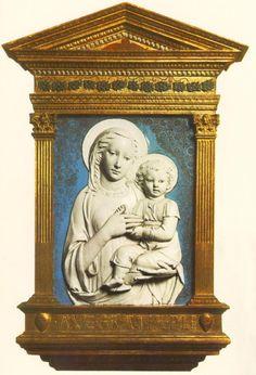 Madonna and Child - Luca della Robbia  #rossirestauro #dellarobbia #terrecotte #restauro #artconservation www.rossirestauro.com