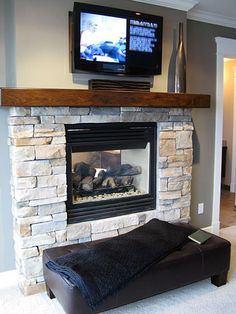 2 sided fireplace bedroom | Fireplace designs for bathrooms and bedrooms