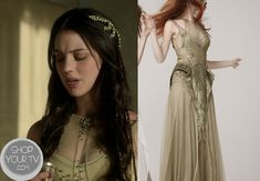 Shop Your Tv: Reign: Season 1 Episode 4 Mary's Olive Mesh and Beaded Gown