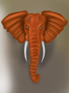 Learn How to Draw an Elephant Head (Zoo Animals) Step by Step : Drawing Tutorials Elephant Face Drawing, Elephant Sketch, Elephant Head, Elephant Print, Animal Paintings, Animal Drawings, Elephant Paintings, Palm Frond Art, Baby Artwork