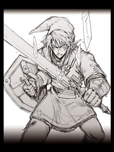 The Legend of Zelda / ゼルダの伝説 Zelda Tattoo, Link Art, Tp Link, Zelda Twilight Princess, Legend Of Zelda Breath, Link Zelda, Breath Of The Wild, Super Smash Bros, Fire Emblem