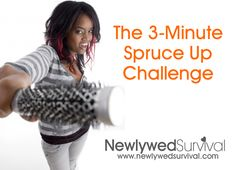 The 3-minute spruce up challenge on Newlywed Survival