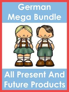 German Mega Bundle. This huge bundle contains all present and future German products in my store. There are currently 76 German resources in this bundle. Please note: As I add new German products to my TPT store, I will raise the price of this package.