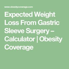 how to lose weight fast after gastric sleeve