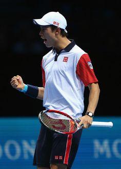 Kei Nishikori Photos - Barclays ATP World Tour Finals - Day Seven - Zimbio